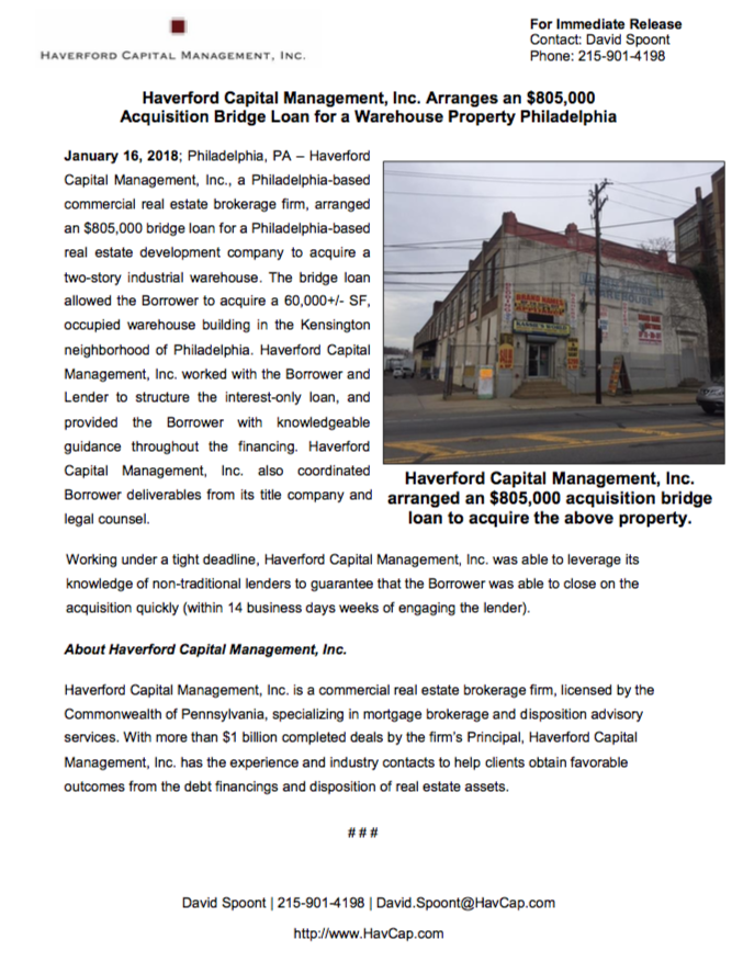 $805,000 Acquisition Loan - Press Release SS.png