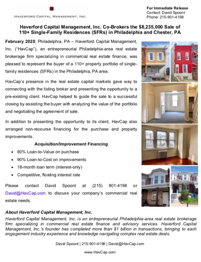 HavCap - 110+ Property Acquisiton